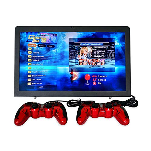 Arcade Console Retro Game Home Machine 18.5 Inch LCD Monitor DIY 1080P Classic Arcade Game Emulator Console Pandora Box X 3D Tablet PC All-in-One 2263 in 1 Neo Geo SNK 1Up 2Up with USB Gamepad