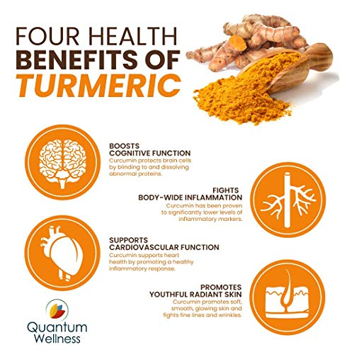 Curcumin 46x with Turmeric, Anti-Inflammatory, Anti-Oxidant with Curcuwin for 46X Higher Bioavailability for Better Absorption for Joint Pain Relief. Made in The USA (3 Bottles - 90 Capsules) by Quantum Wellness Botanical Institute (Image #7)