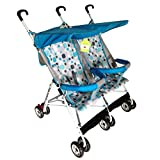Beautylife88 Infant Tandem Strollers Double Jogger Travel System for Baby Blue