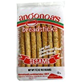 Angonoa's Breadsticks, Sesame, 3.25-Ounce Bags (Pack of 12)