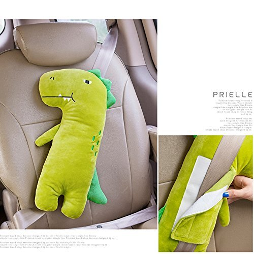 YTYC Cute Doll Car Seat Strap Belt Cushion Cover for Kids Children Adjustable Pillow Pad Vehicle Car Safety Belt Toy Pet Protect Shoulder Chest Child
