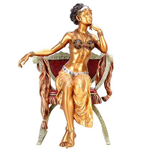Large Vienna Bronze - Arabian Beauty - Two-Piece - Hand-Painted Figurine - Arabian Statue - Sexy Sculpture - Sexy Figurine - Golden Statue - Erotic Figurine by Kunst & Ambiente
