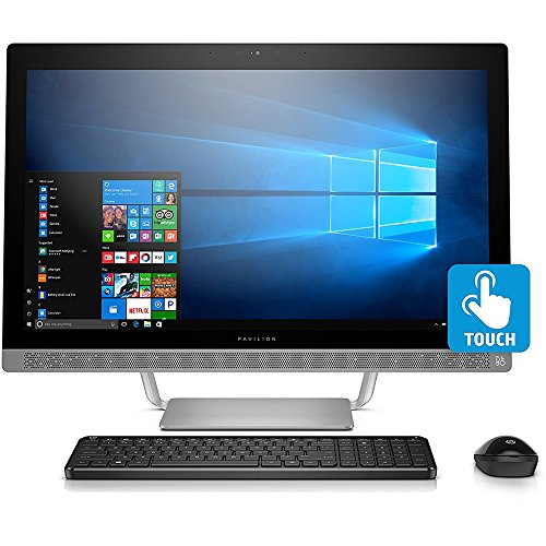 Hp Pavilion 27 Inch All In One Computer  Intel I5 7400T  12Gb Ram  1Tb Hard Drive  Windows 10   27 A230  Silver