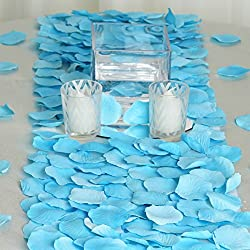 BalsaCircle 2000 Turquoise Silk Artificial Rose Petals Wedding Ceremony Flower Scatter Tables Decorations Bulk Supplies Wholesale