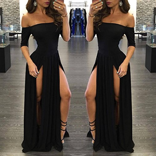 Dress Party Black Bolayu Formal Ball Gown Long Women Bridesmaid Prom Evening Dress 05nU6