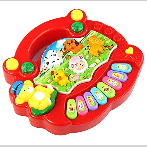 Roisay Baby Animal Farm Piano Music Toy Girls Gift Set/Learning Multi Sensory Educational Toy /Ideal Gift /Gifts Toys for 1 Year Kids