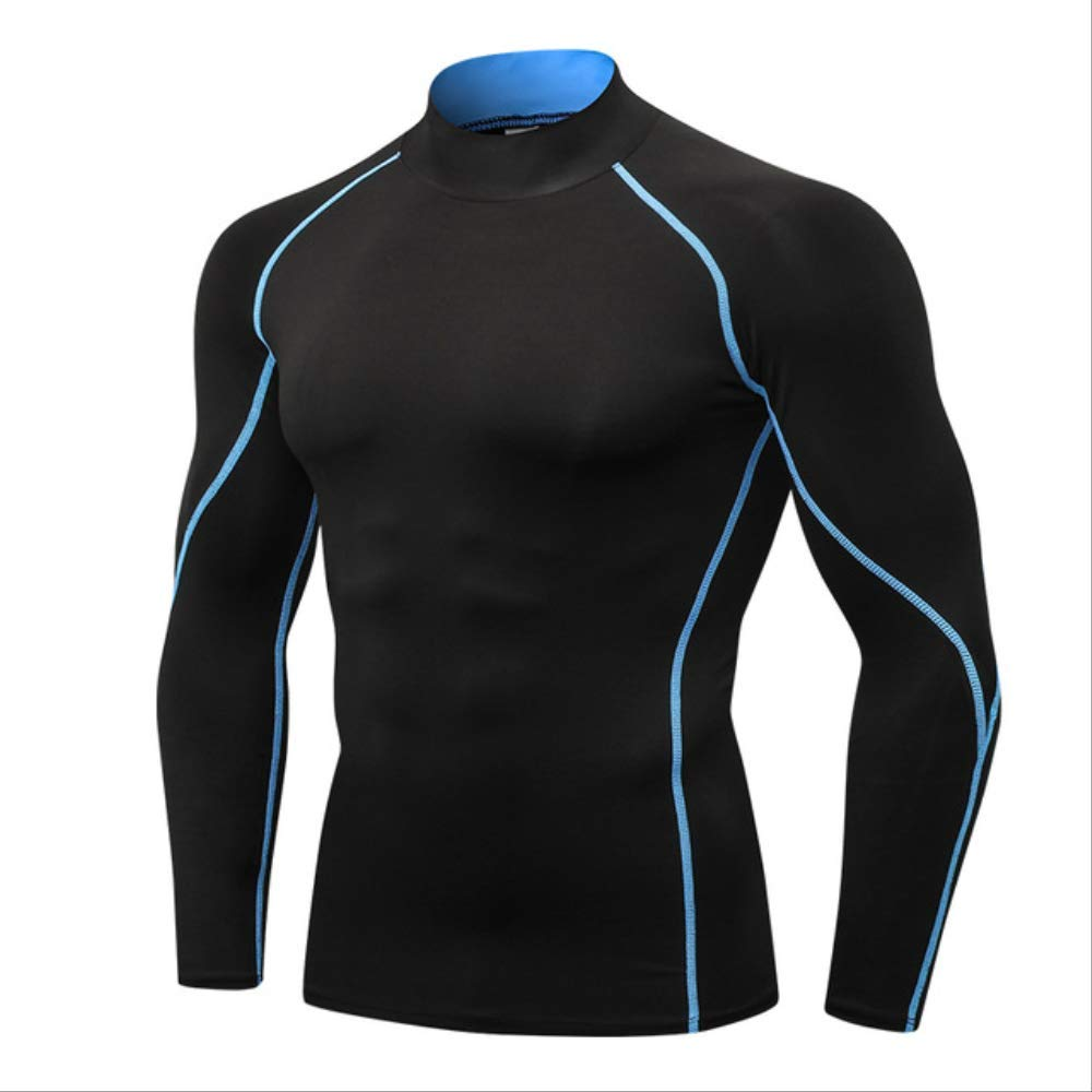 noir bleu line L NUASH Design Nouveau T-Shirt Compression Body Building Jogging Jersey Sport Shirt Hommes VêteHommests De Plein Air FonctionneHommest Shirt