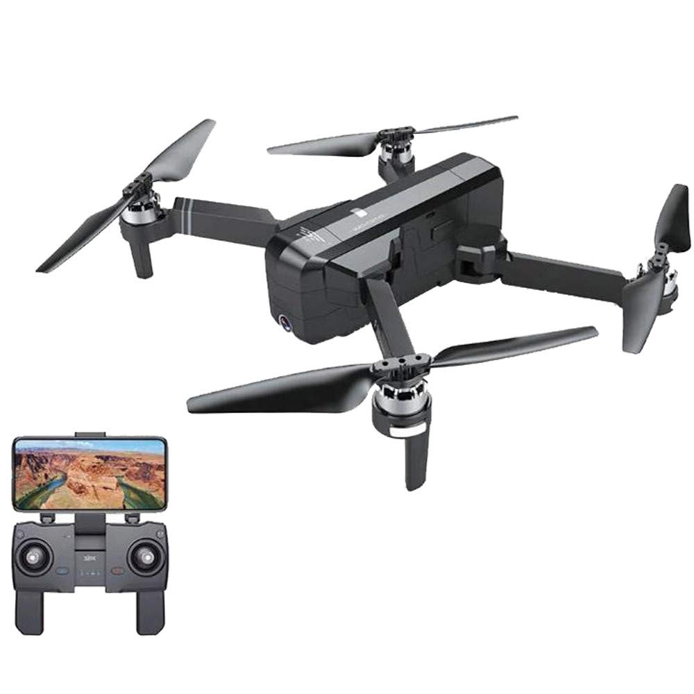 Cywulin RC Quadcopter Foldable Drone 1080P HD 5G WiFi FPV Camera Live Video, Brushless Motor, GPS Auto Return Home, Follow Me, Long Control Range, Altitude Hold, Intelligent Modular Battery (Black)