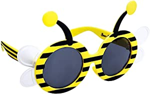 Sun-Staches Bumble Bee Lil' Characters Costume Sunglasses, Instant Costume Party Favor Shades UV400, One Size (SG3488) Black, Yellow