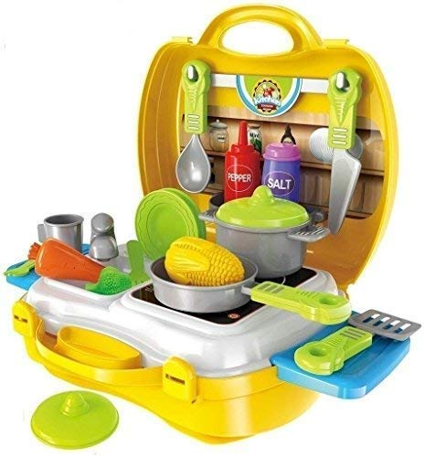TABU TOYS WORLD Ultimate Kid Chef Bring Along Kitchen Cooking Suitcase Set (26 Pieces) – Multicolor