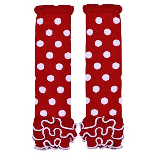 Yoyorule Baby Toddlers Girls Fashion Wave Agaric Socks Leg Warmer (Red)
