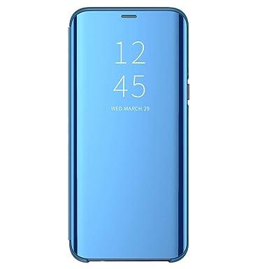 Funda para Samsung Galaxy Note 8 Suave + Duro Carcasa Espejo Mirror Flip Caso Ultra Delgada Shock Caja del Teléfono Translucent Window View