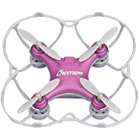 RC Mini Drone Cheerson Quadcopter Toy CS-10SE Remote Control Airplane Four Axis Aircraft Childrens Toy Airplane Model Smart Q Headless Aircraft with Built-in Battery (Purple)