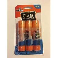 Elmer's Washable Clear Repositionable Glue Sticks - 3 Pack (0.28 Ounces each)