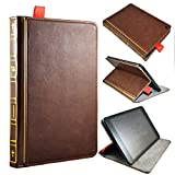 Artech 21 Vintage Book Holy Bible Series Book Genuine Leather Handcrafted Case Cover For iPad Mini 3 / iPad Mini with Retina / iPad Mini 1 --Premium Italian Full Grain Leather Handmade Artisan leather book case and display stand For iPad Mini 3 2 1