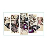 TTnight Diamond Painting Embroidery Kits 5D DIY Full Drill Diamond Painting Combination Kit Decor Colorful Butterfly Painting
