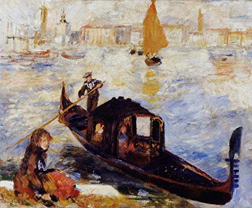 Pierre-Auguste Renoir Gondola on The Grand Canal in Venice 30