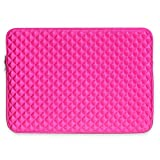 13.3 inch Laptop Case, TechCode 13.3-Inch Laptop Sleeve Ultrabook Sleeve Cover Shockproof Briefcase Protective Bag Portable Carrying Pouch for 13-13.3 Inch Laptop Notebook (Pink)