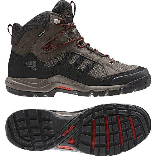 Scarponcino Adidas High Hiking Karak Mid Gtx - Uomo Grigio Rock / Nero / Rosso Potere