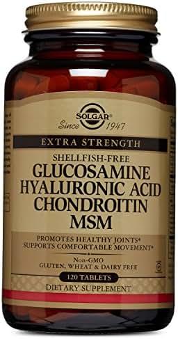 Solgar – Glucosamine Hyaluronic Acid Condroitin MSM (Shellfish-Free) 120 Tablets