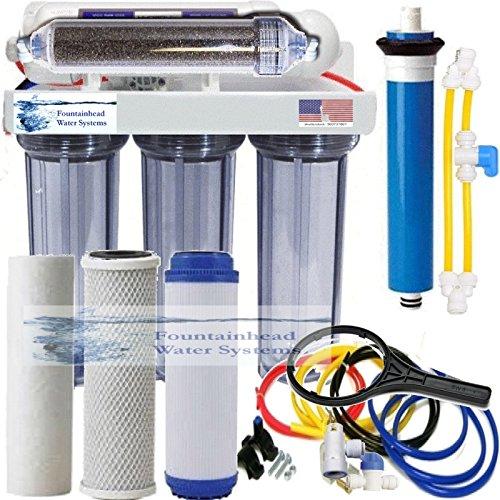 75g Tank (RO/DI Dual Outlet Drinking water/Aquarium Reef DI Core System Clear Housings 75G)