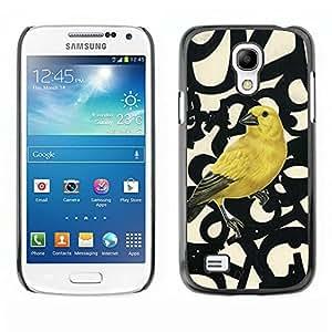 N¨²meros de aves Primavera Resumen- Metal de aluminio y de pl¨¢stico duro Caja del tel¨¦fono - Negro - Samsung Galaxy S4 Mini i9190 (NOT S4)