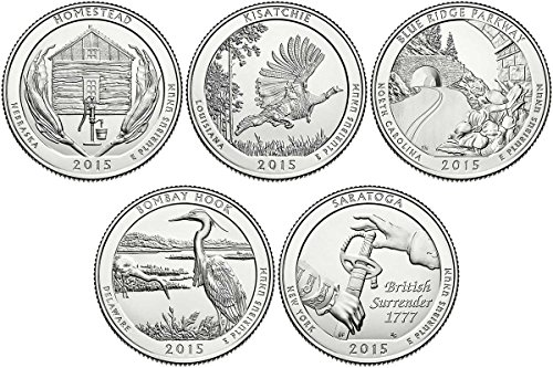 2015 S BU National Parks Quarters - 5 coin Set San Francisco Mint Uncirculated