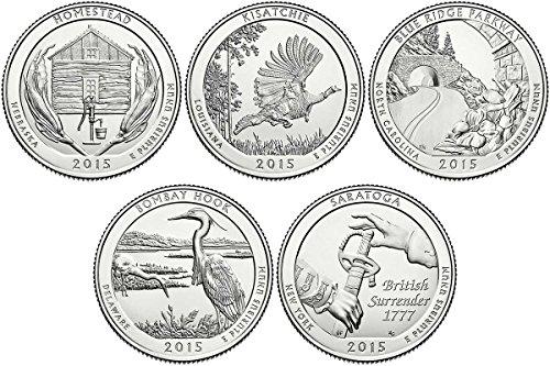 2015 P, D BU National Parks Quarters - 10 coin Set Uncirculated (10 Coin Set)