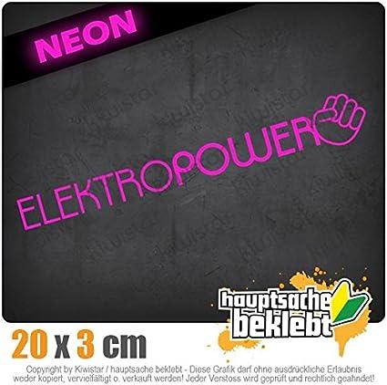 Neon Chrom Sticker Aufkleber Kiwistar Elektropower 10 x 10 cm IN 15 Farben