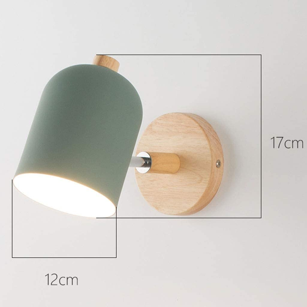 Wandleuchte Schlafzimmer Nacht Studie Einfache Moderne Creative Art Wohnzimmer Korridor Aisle Leuchte Indoor-LED-Lampe (Color : Green) White