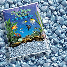 Pure Water Pebbles Pastel Blue Frost Aquarium Gravel, 5-LB, Colored Fish Tank Gravel