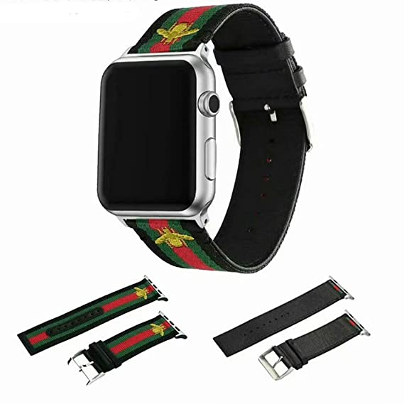 66237df99d2 Amazon.com  Houding-Pro Nylon Band Compatible with Apple Watch 42mm ...