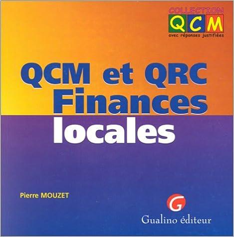 Livres audio gratuits à télécharger en ligne QCM, finances locales en français PDF ePub iBook