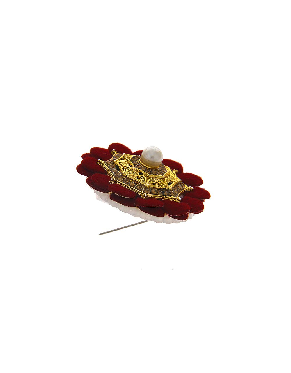 Anuradha Art Maroon Colour Flower Inspired Wonderful Sari/Saree Pin for Women/Girls by Anuradha Art (Image #3)