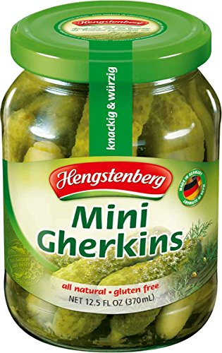 Hengstenberg Mini Gherkins Pickle, 12.5 Ounce (Pack of ()