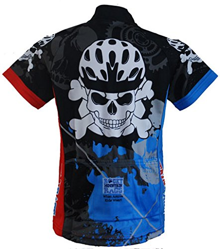 Rocky Mountain Rags Childrens Skull and Cross Cycling Jersey