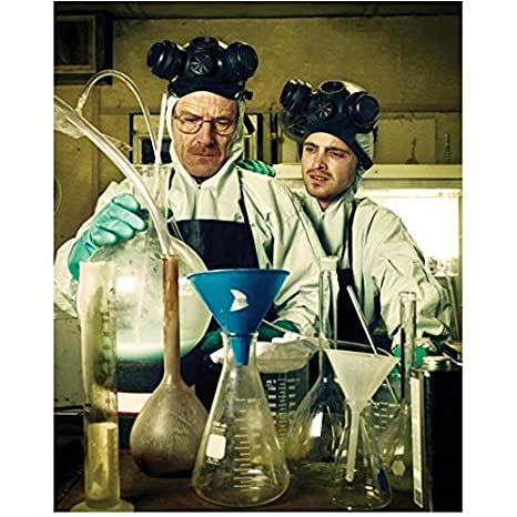 32847546e21fa Breaking Bad Bryan Cranston as Walter White and Aaron Paul as Jesse Pinkman  in a lab 8 x 10 Inch Photo at Amazon s Entertainment Collectibles Store