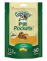 GREENIES PILL POCKETS Soft Dog Treats, Chicken, Capsule, 15.8...