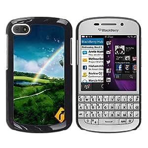 Paccase / SLIM PC / Aliminium Casa Carcasa Funda Case Cover - Nature Hot Air Adventure - BlackBerry Q10