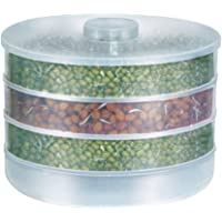 Harikrishnavilla Organic Plastic Box Hygienic Sprout Maker with 4 Container for Home, 69 Oz