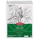 Derwent Academy Heavyweight Paper Sketchbook, Wirebound, 70 White Sheets, 9 x 12 Inches (54964)