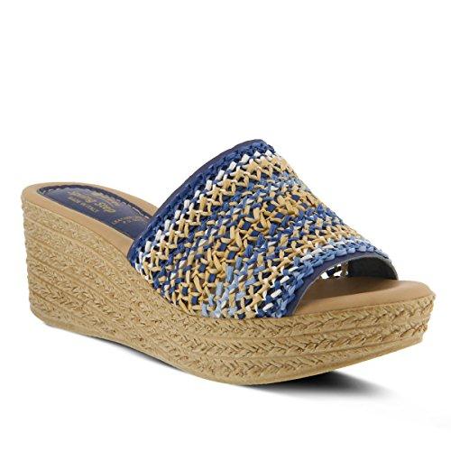 Spring Step Women's CALCI Wedge Sandal, Denim, 41 M EU (US 9.5-10 US) (Sandals Step Denim Spring)