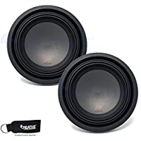 Two Alpine R-W10D2 R-Series 10-Inch Dual 2 Ohm Subwoofers bundle