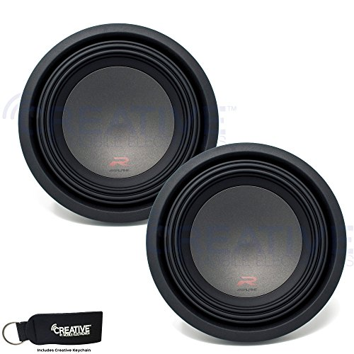 Alpine Two R-W10D4 R-Series 10-Inch Dual 4 Ohm Subwoofers bundle