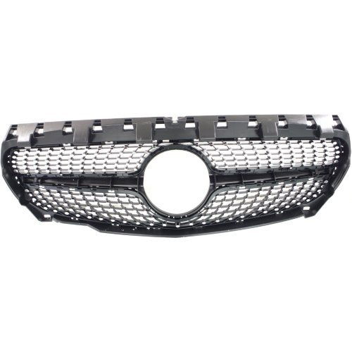 Grille Assembly for MERCEDES BENZ CLA250 2014-2016 Textured Frame/Chrome Insert with AMG Styling Package