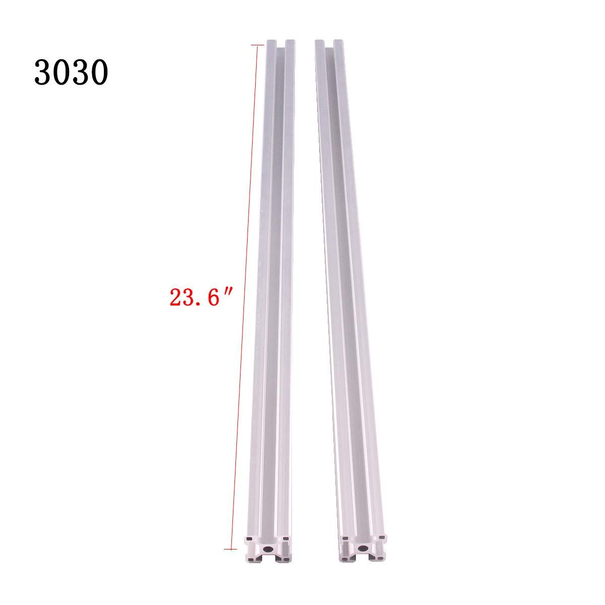 39.4 inch 2Pcs 3030 Extrusion European Standard Anodized Linear Rail Length 1000mm Linear Rail Standard 8mm T Slot for 3D Printer Workbench