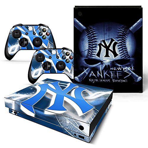 GoldenDeal Xbox One X Console and Wireless Controller Skin Set - Baseball MLB - XboxOne X XOX Sticker Vinyl (Best Mlb Game For Xbox One)