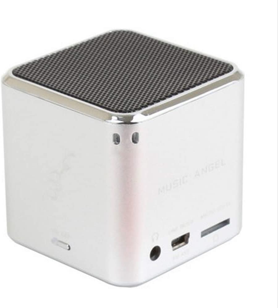 Original Mini Music Angel JH-MD07U Digital Speakers for Cellphone PC Support USB Disk/Micro SD/TF Card MP3 Player FM Radio (Silver)