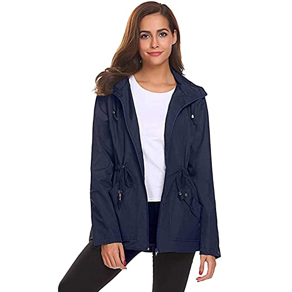 ❤ Chaqueta Impermeable para Mujer, Impermeable liviano Exterior Abrigo Impermeable con Capucha Absolute: Amazon.es: Ropa y accesorios