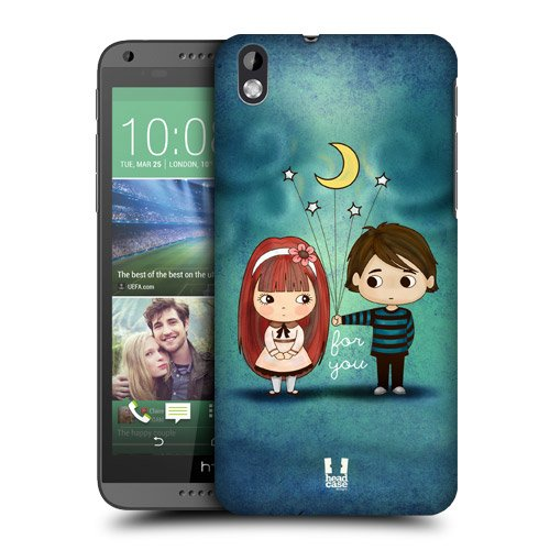 Head Case Designs Give You the Moon and Stars Cute Emo Love Protective Snap-on Hard Back Case Cover for HTC Desire 816
